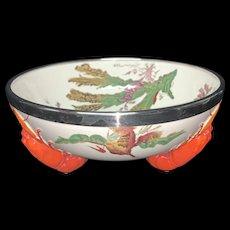 Wedgwood Transferware LOBSTER Bowl ~ SEAWEED 1883