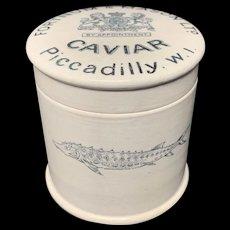 English Victorian CAVIAR  Sturgeon Pot Lid ~ 1890