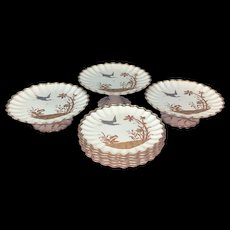 Superb Silver and Gold Copeland Dessert Set ~ 1880