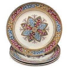 Four Elegant English Victorian Plates ~ PRIMROSE 1881