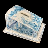 Antique English Victorian Staffordshire Cheese Keep ~ MILKMAIDS 1889