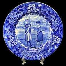 1898 ~ Wedgwood Months Plate ~ JULY ~ Ship Harbor