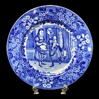 1898 ~ Wedgwood Months Plate ~ JANUARY ~ Girl Friends