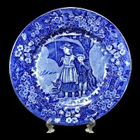 1898 ~ Wedgwood Months Plate ~ APRIL ~ Rain Showers