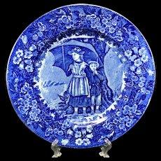 1898 ~ Wedgwood Months Plate ~ APRIL ~ Rain Showers