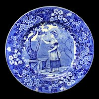 1898 ~ Wedgwood Months Plate ~ SEPTEMBER ~ Picking Apples