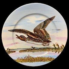 Philadelphia Centennial Exhibition 1876 Edward Kennard Plate Flying Duck