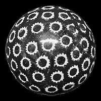 Spongeware Black Scottish Carpet Ball Boule 1860