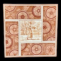 Artist Kate Greenaway Tile ~ Autumn ~ 1881