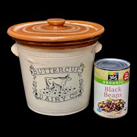 Large 5 lb BUTTERCUP DAIRY Co Butter Crock w Lid  1920