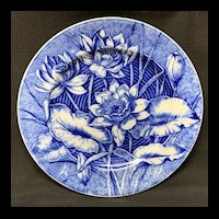 Flow Blue Wedgwood Cabinet Transferware Plate ~ LILY 1903