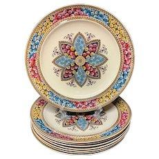 6 ~ Elegant English Victorian Plates ~ PRIMROSE 1881