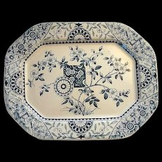 Marine Blue Transfer Platter ~ Gordon 1875