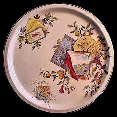 "French Aesthetic Transferware 12"" Charger ~ POMEGRANITE"