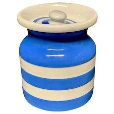 Cornishware Banded Kitchen Ware Storage Jar ~ c 1930 - 1940