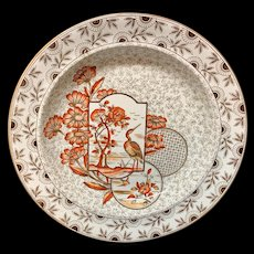 Hand Painted Victorian Soup Plate ~ Devonshire 1885