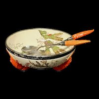 Wedgwood Anniversary LOBSTER Bowl Sterling Silver Tongs~ SEAWEED 1883