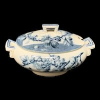 Mulberry Blue Gainsboro Tureen CURRANTS 1884