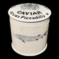 English Victorian CAVIAR  Sturgeon Pot Lid ~ 1890