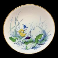 Staffordshire Allegorical Plate ~ Bringing Home Dessert ~ 1880