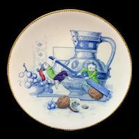 Rare Staffordshire Plate ~ Fairy Elf Fantasy ~ Hard Nut to Crack 1880