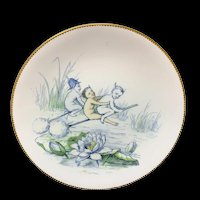 Staffordshire Allegorical Plate ~ Elves ~ Mischief in the Air Elf  1880