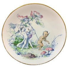 Staffordshire Water Babies Plate ~ Rejected Addressee Fairy Elf 1880