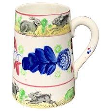 Stick Spatter Rabbitware Ironstone Tankard Mug ~ Virginia Rose 1900