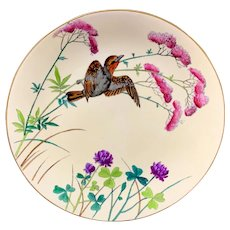 Rare Minton Ornithological Hand Painted Plate ~ ESSEX BIRDS