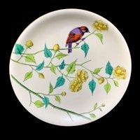 Rare Minton Ornithological Hand Painted Plate ~ ESSEX BIRDS
