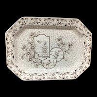 1884 ~ Victorian Transferware Platter ~ Devonshire ~ Staffordshire