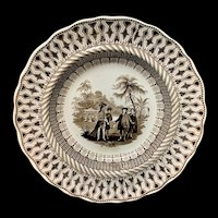 Brown Transferware ~ Historical William Penns Treaty 1847