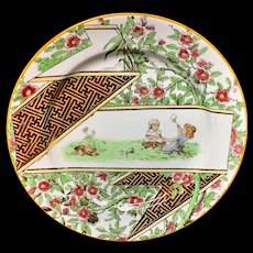 Doulton Antique English Transfer Printed Plate ~ 1920
