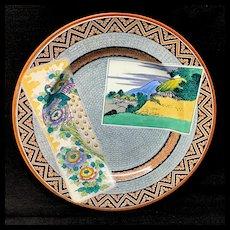 Superb Polychrome Wedgwood Plate ~ MEKADO 1873