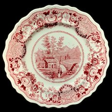 Staffordshire American Historical New Hampshire Plate ~ 1835