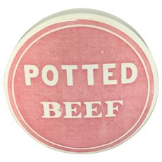 1885 ~ Rare Victorian Potted Beef Meat Pot