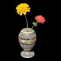 Antique English Grimwades Winton Rose Vase c 1910