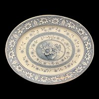 1883 Very Large English Transferware Platter ~ PALMYRA Staffordshire