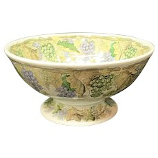 Outstanding Large  Wassail or Champagne Punch Bowl ~ GRAPES 1840