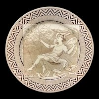 Aesthetic Movement Plate Midsummer Night's DREAM ~ COBWEB England 1882