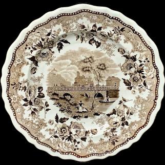 Staffordshire American Historical Race Bridge Philadelphia Plate ~ 1835