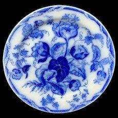 Flow Blue Wedgwood Transferware Plate ~ Water Nymph 1860