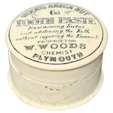 Quack Medicine English Tooth Paste Pot and Lid 1890