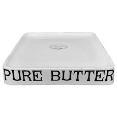 Ironstone PURE BUTTER Dairy Shop Display Stand c1890 Dublin, Ireland