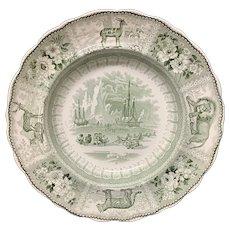 Rare Staffordshire ARCTIC SCENERY Bowl Plate 1835