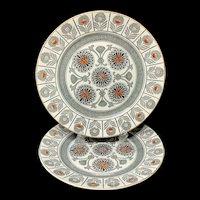 2 ~ Wedgwood Marigold Pattern Dinner Plates ~ MARIGOLD 1879