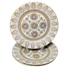 3 ~ Wedgwood Marigold Pattern Dinner Plates ~ MARIGOLD 1879
