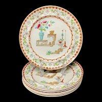 6 ~ Aesthetic Movement Era Plates ~ CANTON 1879