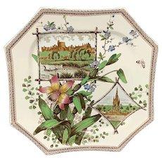 WORLD Transferware Plate ~ Windsor Castle 1884