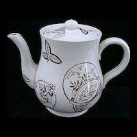 Aesthetic Brown Tea Pot ~ Fish & Fans 1885